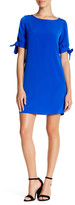 Donna Ricco Bow Sleeve Shift Dress (Petite)