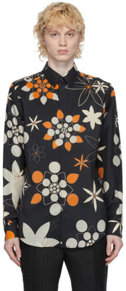 Fendi Black Silk Floral Shirt