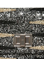Anya Hindmarch Backgammon Valorie Glitter Fabric Clutch