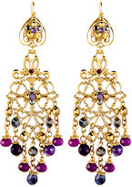Jose & Maria Barrera Multihued Filigree Chandelier Earrings, Purple/Hematite