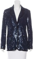 Tory Burch Sequin-Embellished Notch Lapel Blazer