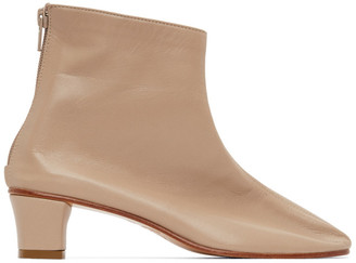 Martiniano Beige High Leone Ankle Boots