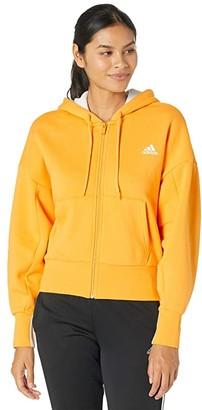 adidas Big Badge of Sport Full Zip Hoodie (Gold) Women's Clothing