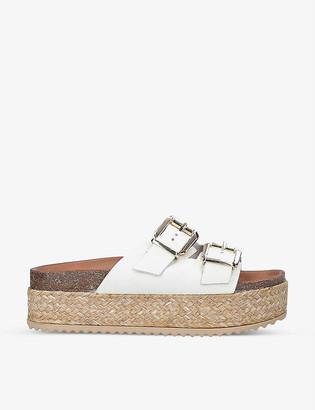 Kurt Geiger Ortona leather flatform sandals