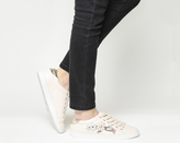 Office Flower Embellished Lace Up Trainers