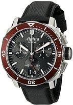 Alpina Men's AL-372LBBRG4V6 Seastrong Diver 300 Chronograph Big Date Analog Display Swiss Quartz Black Watch