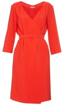 Nina Ricci Mid-weight crepe wrap dress