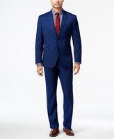 Kenneth Cole Reaction Men's Slim-Fit Bright Blue Mini-Check Suit