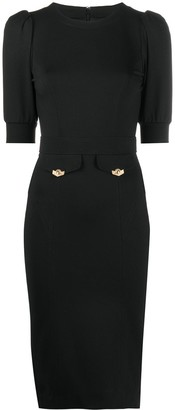 Versace Jeans Couture Puff Sleeve Jersey Knit Dress