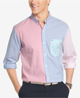 Izod Men's Colorblocked Striped Poplin Shirt