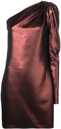 Victoria Victoria Beckham metallic one-shoulder dress