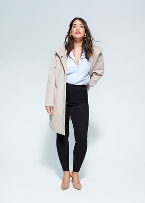 MANGO Violeta BY High waist Tania jeggings black denim - 10 - Plus sizes