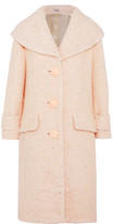 Miu Miu Crystal-embellished Mohair-blend Coat - Blush