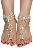 Vogholic Beach Wedding Foot Jewelry Anklet Rhinestone Barefoot Sandals