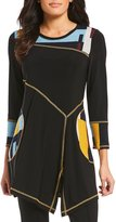 IC Collection Long Sleeve Abstract Print Tunic