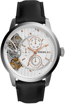 Fossil Men's Townsman Black Leather Strap Watch 44mm ME1164