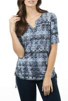 FDJ French Dressing Indigo Aztec Top