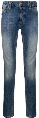 Philipp Plein Wrinkle Effect Jeans