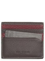Ted Baker Men's 'Dinky' Leather Card Case - Grey