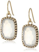 Barse Bronze and Faceted Mother-of-Pearl Drop Earrings