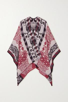 Etro Wool-blend Jacquard Wrap - Red