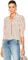 Equipment Cropped Signature Top in Neutrals,Pink,Stripes.