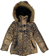 Urban Republic Brown Leopard Toggle-Closure Puffer Coat - Toddler & Girls