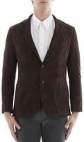 Lardini Men's Brown Cotton Blazer.