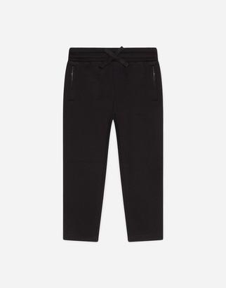 Dolce & Gabbana Jersey Jogging Pants With Satin Detail