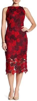 Alexia Admor Floral Crochet Lace Midi Dress