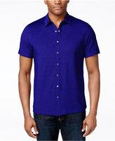 Alfani Big and Tall Piqué Short-Sleeve Shirt, Only at Macy's