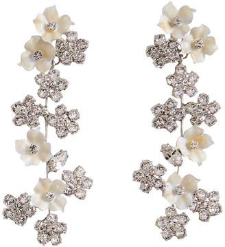 Jennifer Behr Delphine Crystal Violet Earrings