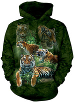 The Mountain Green Tigers Hoodie - Unisex