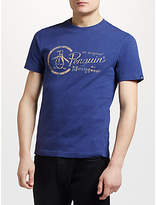 Original Penguin Plastisol Combo Logo Print T-shirt, Blue Depths