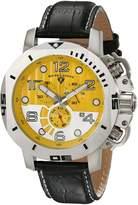 Swiss Legend Men's 10538-07 Scubador Chronograph Black Leather Watch