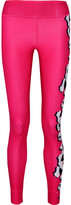 adidas by Stella McCartney Printed Color-block Climalite Stretch Leggings - Pink