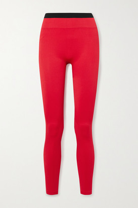 Reebok x Victoria Beckham Jacquard-knit Leggings - Red