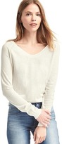 Soft V-neck long sleeve sweater