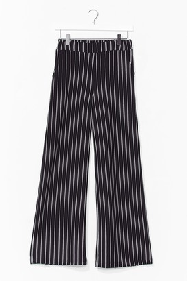 Nasty Gal Womens 'Til We Get It Stripe Wide-Leg Trousers - Black - S