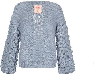 Thierra Nuestra Felipe Light Blue Hand Knitted Cardigan
