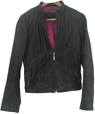 Cole Haan Black Leather Jacket for Women