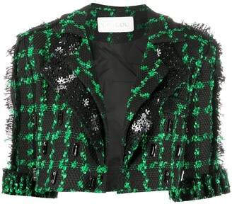 Loulou Short-Sleeve Cropped Jacket