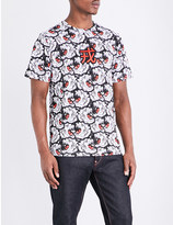 Evisu Tiger-print cotton-jersey T-shirt