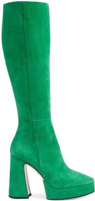Gucci Women's suede platform boot