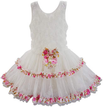 Popatu Girl Soutache Ruffle Dress