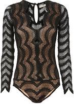 Nightcap Clothing Long Sleeve Lace Bodysuit