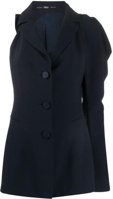 Gianfranco Ferré Pre Owned 1990s Single-Sleeve Draped Blazer-Style Top