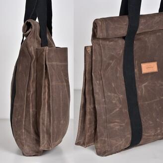 LaneFortyfive - The Basto Tote Bag - Dark Oak Waxed Canvas