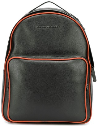Emporio Armani contrast trimmed backpack