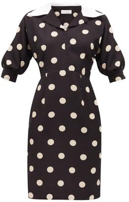 Wales Bonner Vilma Polka-dot Cady Dress - Womens - Black White